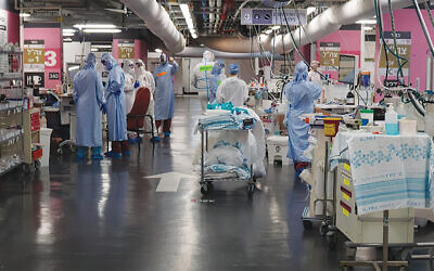 Inside the Rambam Medical Center corona ward as shown in one of the episodes. (Courtesy of Rambam Medical Center.)