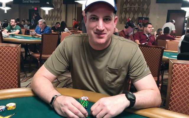 Gershon Distenfeld plays pre-covid poker.