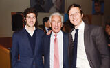 Charles Kushner, center, and his sons Josh, left, and Jared are at a party hosted by the New York Observer in New York on April 1, 2014. (Patrick McMullan via Getty Images)