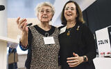 Dr. Anna Bando, president of the Polish Society for the Righteous, and Stanlee Stahl, executive director of the Jewish Foundation for the Righteous.