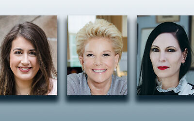 Ali Rogen, left, Joan Lunden, and Jill Kargman