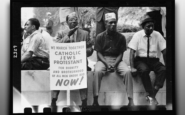 In 1965, these men joined in the march on Selma. (Peter Pettus/Library of Congress)