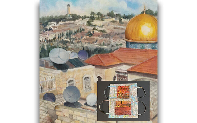 """""""Dishes and Domes"""" by Barbara Israel; inset, """"November: The More Things Change"""" by Lisa Suss"""