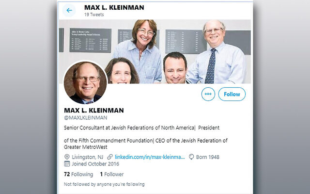 Someone set up this Twitter account to impersonate Max Kleinman.
