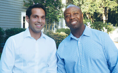 Adam Sasouness and Senator Tim Scott (R-SC) (Courtesy Norpac)