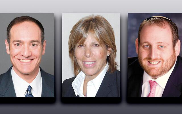 Scott Richman, left, Linda Scherzer, and Rabbi Howard Tilman