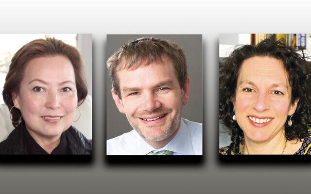 Angelica Berrie, left, Aaron Dorfman, and Idana Goldberg