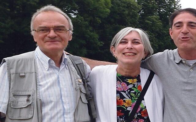 Waclaw Wojciechowski, left, with Elaine Culbertson and Neil Garfinkle. (Courtesy FLJC)