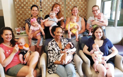 Breastfeeding mothers at Chilton Medical Center socialize and problem solve with like-minded women in their support group.