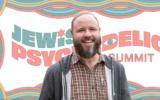Rabbi Zac Kamenetz is one of the organizers of the landmark Jewish Psychedelic Summit. (J. the Jewish News of Northern California; background courtesy of Shefa/Shannon Levin)