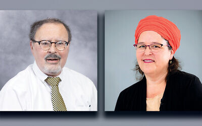 Rabbi Yosef Adler, left, and Rabbanit Devorah Evron