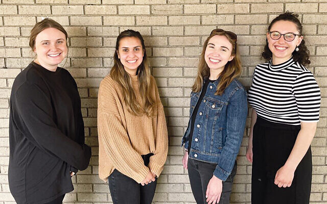 Emily Lester, Stefanie Rendine, Katie Wolchko, and Tori Cappo. Emily and Katie were VISTA volunteers and now are full time JFCS employees.