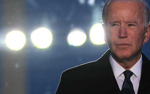 Joe Biden spoke during a memorial service for American victims of the COVID-19 pandemic, Jan. 19, 2021, the eve of his inauguration as president. (Chip Somodevilla/Getty Images)