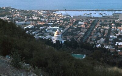 A view of the Bay of Haifa, circa 1930. (Universal History Archive/Universal Images Group via Getty Images)