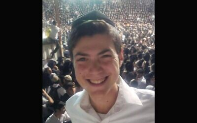 A photo of Nachman Doniel Morris, a student who died in the stampede at Mount Meron in Israel on Lag b'Omer, was shared on social media. (Twitter)