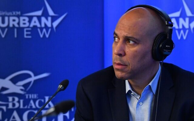 Sen. Cory Booker at the SiriusXM Studios In Washington, D.C., Jan. 10, 2020. (Larry French/Getty Images for SiriusXM)