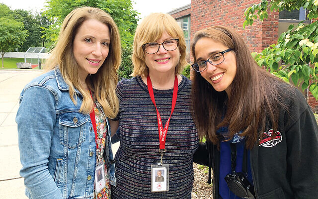 From left, Yavneh teachers Shira Brandsdorfer, Esther Kook, and Michal Kahan reflect on the last year. (Courtesy Esther Kook)