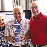 Carol Silver Elliott, the Jewish Home Family's CEO, left, with honoree Wilson Aboudi and Peter Martin, the JHF's incoming board chair.