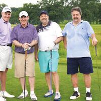Bruce Mactas, David Eisbrouch, Rabbi David-Seth Kirshner, and Alan Miller