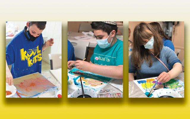 Young Kool Kids Passaic artists at work.