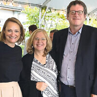 Debbie Harris and Karen and Geoffrey Lewis