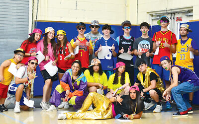 """J-Crew campers getting ready for """"Camp Cheer Off."""" (All photos courtesy JCC Rockland)"""