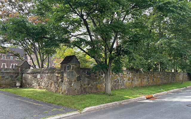 This stone wall guards the Empty Cloud Monastery, which used to be home to the Order of Augustinian Recollects in West Orange. (Photos by Daniel Naiman)