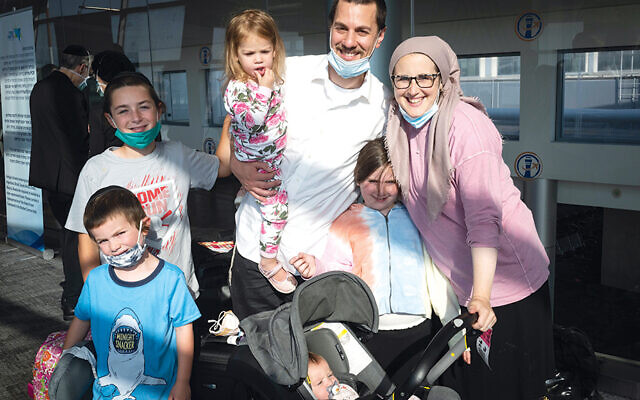 The Glassberg family from Fair Lawn (Photos by Shahar Azran)