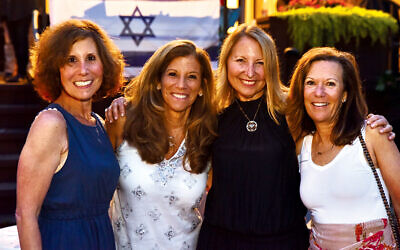 From left, Debbie Weinstein, co-chair of Israel Bonds Rockland Women's Division; Sharon Sasson, general chair of Israel Bonds Rockland; Cathy Distelburger, Israel Bonds National Women's Division general chair, and Pam Greenspan, Israel Bonds Rockland Women's Division  co-chair. (Jeff Karg)