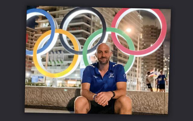 Yoni Rosenblatt, Team Israel's sports physical therapist, in Tokyo. (Courtesy of Yoni Rosenblatt/Baltimore Jewish Times)