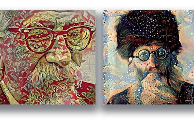 Rabbis Abraham Joshua Heshel and Abraham Isaac Kook, as rendered by Rabbi Zac Kamenetz