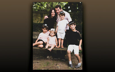 Dani and Michael Gottesman and family of Bergenfield (Photo courtesy  YU Connects)