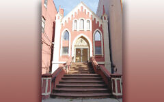This old building was built for Adas Emuno in Hoboken in 1883, when the community was two years old.
