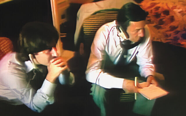 """Early in his """"60 Minutes"""" career, Mr. Rosen, left, is on a stakeout with Mike Wallace. (All photos courtesy Ira Rosen)"""