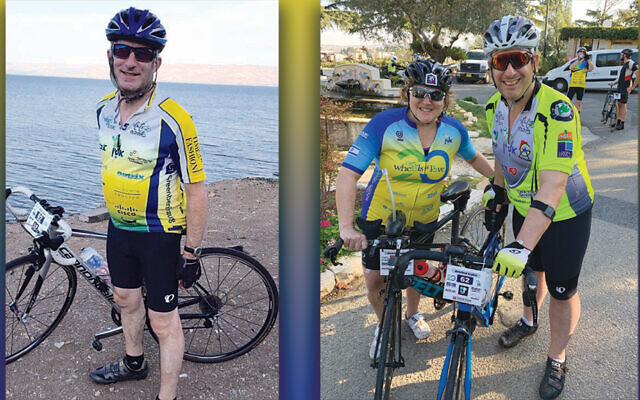 Dr. Larry Stiefel, left, and Michelle and Jonathan Lupkin (Photos Courtesy Alyn)