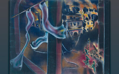 'Liberation of Magdeburg, 1946' by artist Boris Lurie (Courtesy of the Boris Lurie Art Foundation)