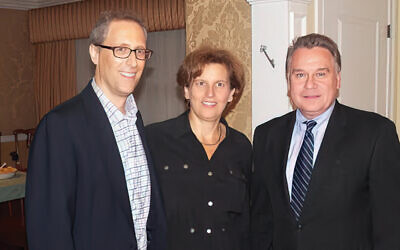 David and Rena Schlussel, left, with Rep. Chris Smith (Courtesy Norpac)