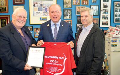 Bob Nesoff, left, John Hogan, and Peter Rebsch