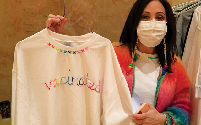'Vaccinated' top for sale (Courtesy JCCOTP)