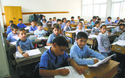Palestinian schoolchildren studying at the UNRWA Gaza Elementary School in Gaza City in 2010. IRIN/Creative Commons
