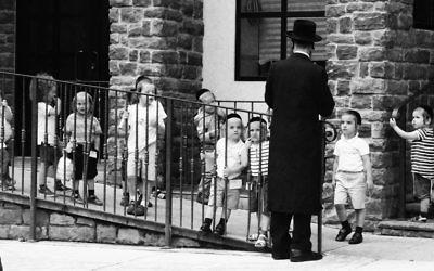 Students at a chasidic yeshiva in Brooklyn. Michael Datikash/JW