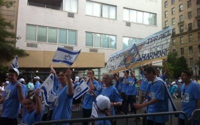 A scene from an earlier Celebrate Israel Parade in NYC. Courtesy of Chavie Lieber