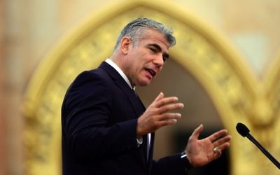 Yair Lapid. Getty Images