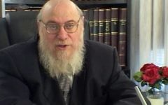 "Rabbi Mendel Epstein, who was accused of using sometimes violent methods to coerce Jewish husbands into granting their wive a divorce, will be the subject of a forthcoming movie, ""The Get."" (YouTube)"