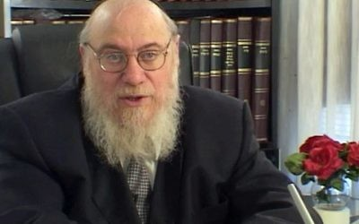 """Rabbi Mendel Epstein, who was accused of using sometimes violent methods to coerce Jewish husbands into granting their wive a divorce, will be the subject of a forthcoming movie, """"The Get."""" (YouTube)"""