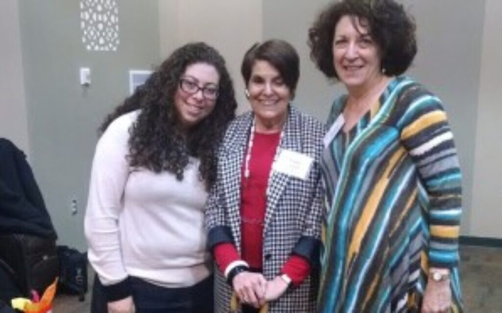 Rabbi Lynne Landsberg, z'l, is in the middle with the author on the right. Courtesy of Shelly Christensen
