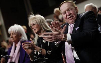 Miriam and Sheldon Adelson