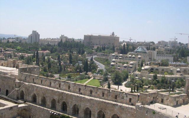 Panorama: part of West Jerusalem. Wikimedia Commons