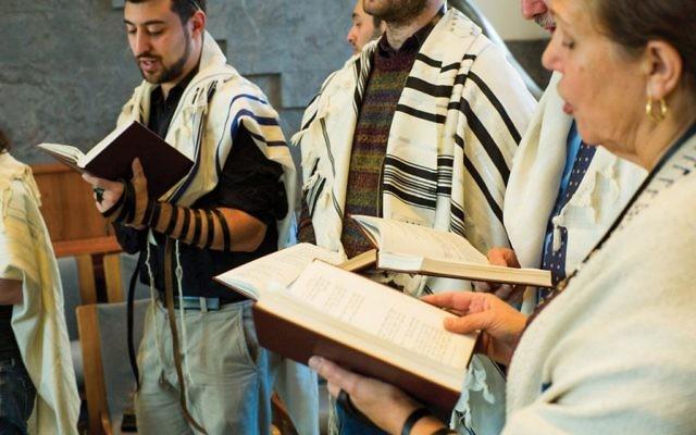 Rabbinical students at JTS. Courtesy