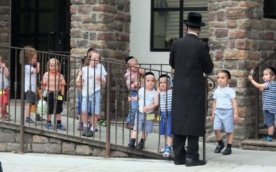 Students from a chasidic preschool in Brooklyn. Michael Datikash/JW